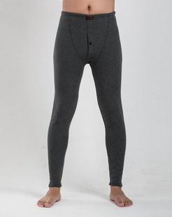 男款深灰色加厚护膝保暖裤
