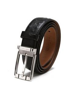 黑色牛皮时尚皮带