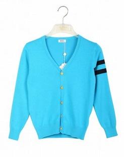 中性蓝色时尚多彩开衫