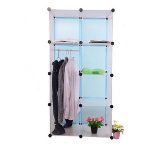 名门新贵 加大款式 8格组合收纳柜 无门板 DIY便捷组合杂物收纳架 树脂材质(黑粉)