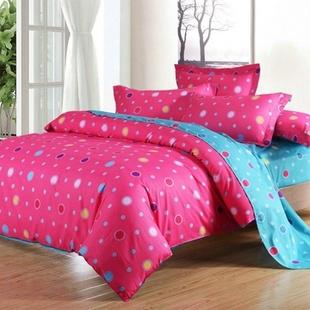 天绚全棉斜纹印花四件套 床上用品 时尚欧美四件套(适用1.5-1.8米床)(花园街)