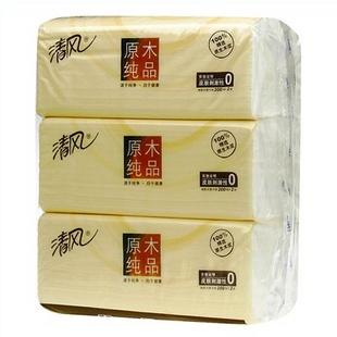 清风原木纯品系列2层200抽抽取式面纸*3包