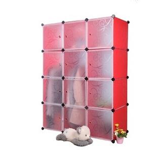 名门新贵 12格 加大款式 DIY自由组装衣柜 环保健康 容纳空间更大居家首选(蓝色)