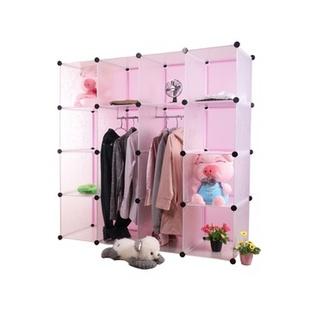名门新贵 16格DIY加大款式组合收纳衣柜 收纳大大增加 无门板 时尚便捷家具(白色)