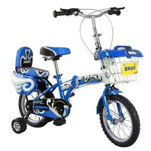 王子折叠儿童自行车(红色 12寸)