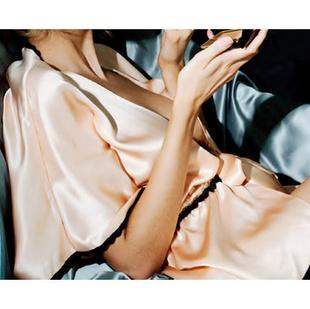 裸粉色小睡袍 ML