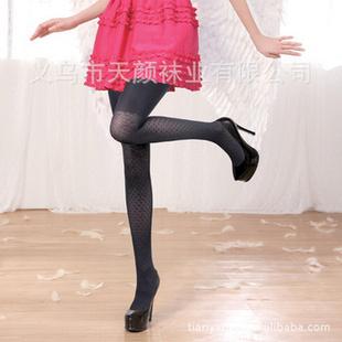 AOPOOSS 21850提花加厚天鹅绒裤袜 黑色