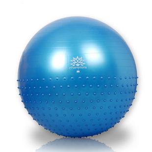 奥义加厚防爆瑜伽球 75cm按摩健身球 减肥瘦身瑜珈球 送充气筒 75cm带刺蓝色