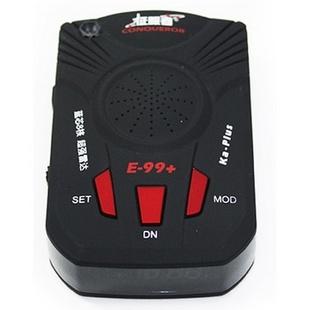 征服者 电子狗E99+ 固定+流动测速高感全频雷达测速仪(黑色)