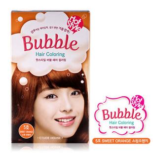 爱丽小屋EtudeHouse清新花香泡泡染发膏套装 无刺激 5号桔红色