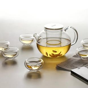 VATIRI乐怡 极光玻璃茶具套装 透明茶壶茶杯套组七件套