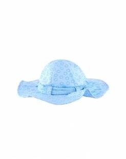 蓝色星星印花太阳帽-韩国进口