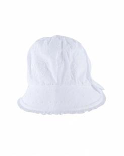 白色纯棉印花遮阳帽-韩国进口