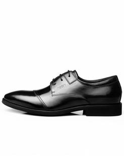 黑色牛皮英伦复古商务皮鞋