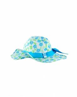 蓝色梅花印花太阳帽-韩国进口
