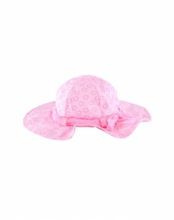 粉红星星印花太阳帽-韩国进口