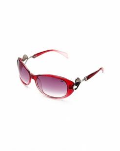 女款橘红色时尚经典太阳镜
