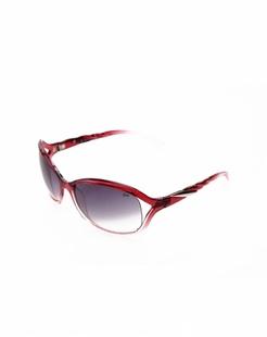 女款红色渐进复古时尚太阳镜