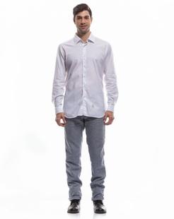 经典商务白色长袖衬衫