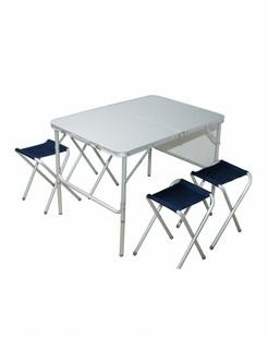 中性银色1070折叠桌套装