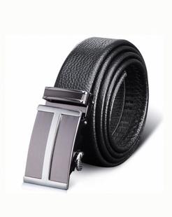 黑色细腻软牛皮腰带