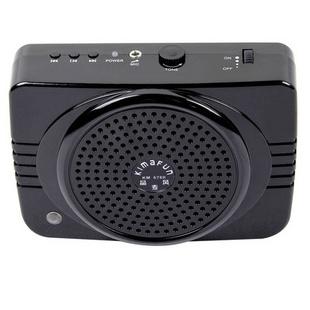 晶麦风 KM-678R 插U盘 TF卡带收音 遥控 教学 导游 娱乐 多功能扩音器 黑色