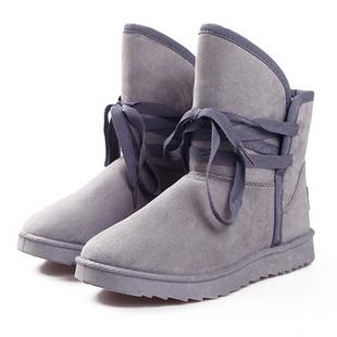 YESWUYOU2013冬季时尚加厚雪地靴GS-XJL-D2207 灰色 35