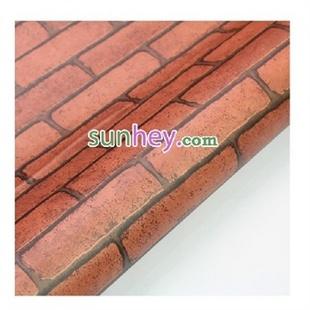 加厚波音软片旧家具翻新贴砖纹贴自粘墙纸 红砖头SH2210
