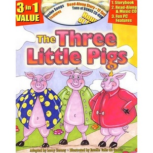 The Three Little Pigs Classic Read Along Audio Book三只小猪经典读物(带语音材料)