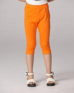 女童橙红色中裤