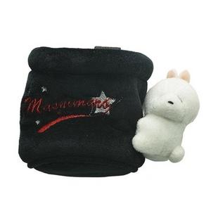韩国流氓兔(Mashimaro)汽车挂式置物桶(天鹅绒)-米色