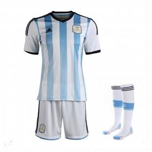 adidas阿迪达斯2014新款足球服男装世界杯国家队阿根廷透气专业服套装G74573+G74569+G75182
