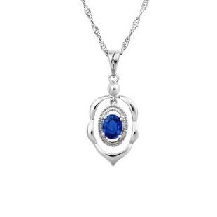 颜博钻石 18K蓝宝石吊坠 Z-YCM314