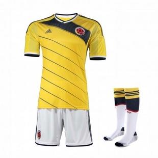 adidas阿迪达斯2014新款足球服男装世界杯国家队哥伦比亚透气专业服套装G85404+G85387+G85396