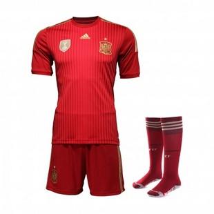 adidas阿迪达斯2014新款足球服男装世界杯国家队西班牙透气专业服套装G85239+G85279+G85233