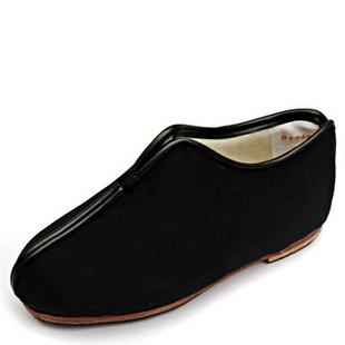 同升和 正品冬季保暖纯手工棉鞋贴胶皮底礼服呢安棉 黑色 45