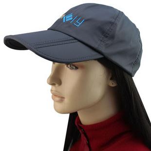 晴舫 速干防水鸭舌帽 户外运动登山帽 男士可折叠防晒钓鱼帽 QF A13003 灰色OUTFLY 均码