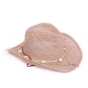 白云纯麻贝壳牛仔帽BN0037 麻本色 54-57.5cm可戴