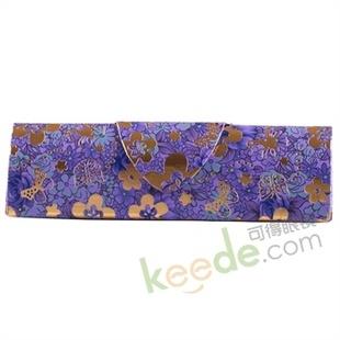 三角形手工镜盒 紫色小花M