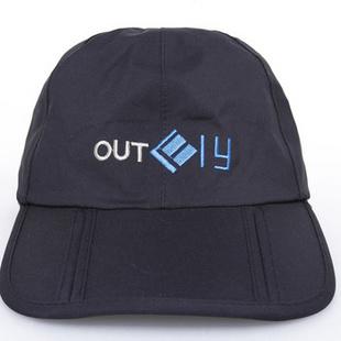 舫 高档户外帽子 全方位防水透气防紫外线 登山帽钓鱼帽 时尚运动休闲帽 QF A12031 黑色 均码