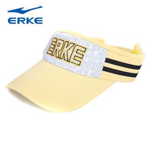 鸿星尔克erke 时尚帽子男女空顶帽 GX81030 白黄