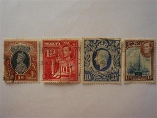 英皇喬治六世4张票稀罕精品珍藏经典 珍藏增值
