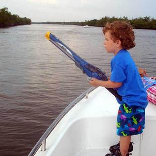FOGO儿童安全喷射式钓鱼竿 可以钓鱼的鱼杆 礼物
