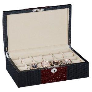 BOYIPAK 艺博 高档皮盒 皮制手表盒 12表装手表盒 WC204-12BC