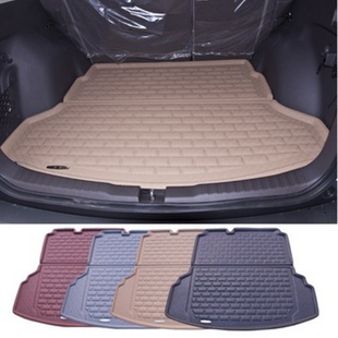 爵尚福特翼搏专用汽车后备箱垫 福特翼搏后箱垫尾箱垫(棕色)