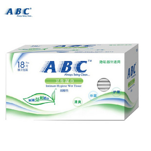 ABC 卫生湿巾 18片