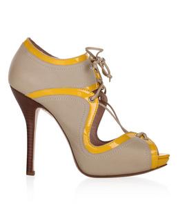 ESCADA 爱思卡达 Escada Sport双色山羊皮漆皮相拼女士系带高跟鞋 5006222 A277 【网购,价格,奢侈品,正品,图片】