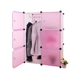 名门新贵 6格 百变多功能组合衣柜 加大款式 儿童玩具储放柜 时尚简约 高级树脂(黑色)