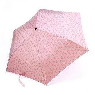 优质防晒三折晴雨伞 粉红色