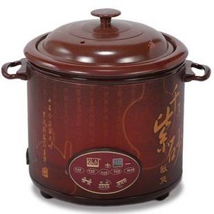 依立(Yili) FSX20-2 紫砂电饭煲 2L,微电脑控制,预约定时